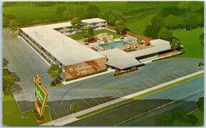 La Salle, Illinois Postcard HOLIDAY INN Motel Peru Artist's View 1965 Cancel
