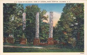 South Carolina Columbia Ruins Of Millwood Home Of General Wade Hamton