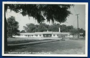 White Springs Florida fl Suwannee River Court Real Photo Postcard RPPC