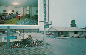 LEWISBURG, Ohio, 1940-60s; 2-Views, J & R Motel, Swimming Pool, Classic Cars