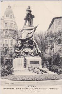 Monument Leon Gambetta, par Maubert, Statuaire, Nice, Alpes Maritimes, France...