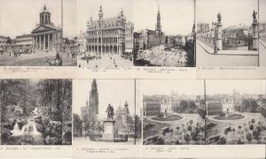 Lot 7 early stereo images stereographic views all BELGIUM