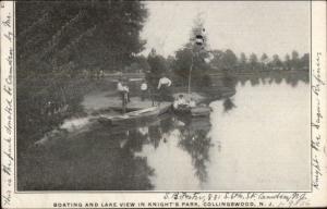 Collingswood NJ Knight's Park Coating c1905 Postcard