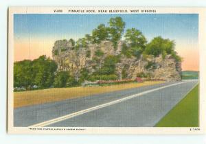 Vintage Postcard V-180 Pinnacle Rock Bluefield  West Virginia # 1959