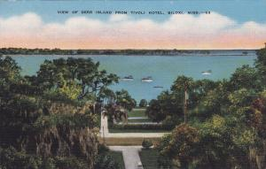 View of Deer Island From Tivoli Hotel, Biloxi, Mississippi, 30-40´s