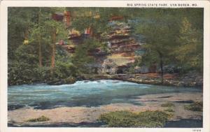 Missouri Van Buren Big Spring State Park Curteich