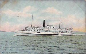 Steamer City Of Rockland 1912