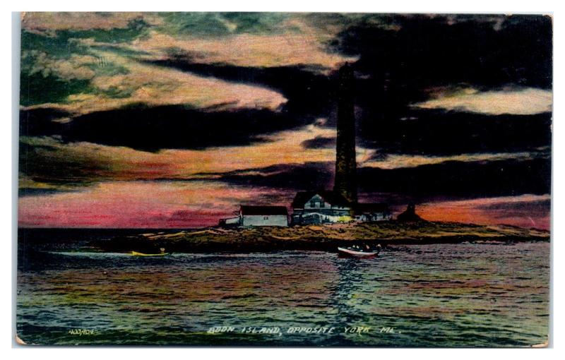 Early 1900s Boon Island Light, York, Maine Postcard