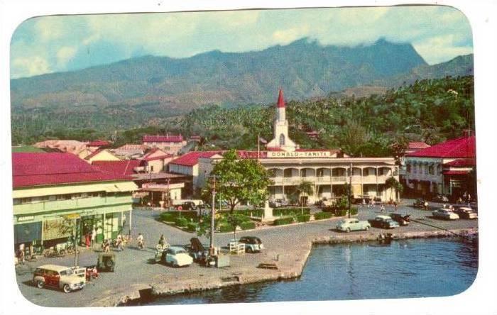 A glimpse of Papeete, Tahiti, 40-60s