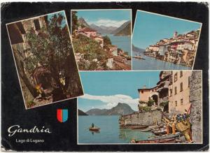 Switzerland, GANDRIA, Lago di Lugano, used Postcard