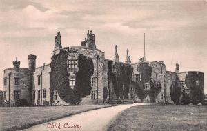 Chirk Castle, Wales, early sepia postcard, unused
