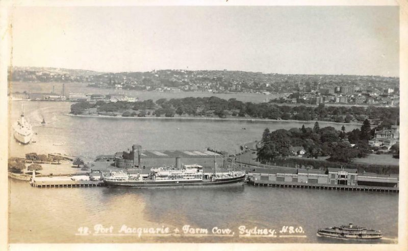 RPPC Port Macquarie & Farm Cove, Sydney, NSW, Australia Vintage Photo Postcard