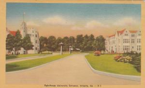ATLANTA , Georgia , 30-40s ; Oglethorpe University Entrance