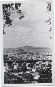RPPC View from Mt.Eden toward Mount Rangitoto Auckland New Zealand NZ