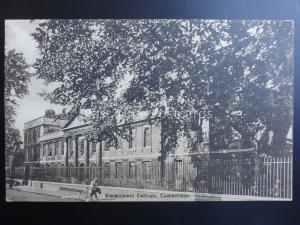 Cambridge EMMANUEL COLLEGE Old Postcard by Boots Pelham Series