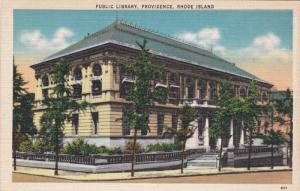 PROVIDENCE, Rhode Island, 1930-1940's; Public Library