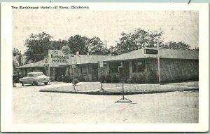 El Reno, Oklahoma Postcard THE BUNKHOUSE MOTEL Route 66 Roadside c1950s Unused