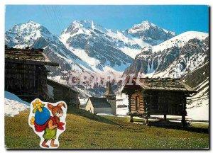 Postcard Modern bei Davos Sertig Dorfli
