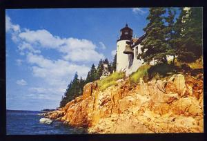 Mt Desert Island, Maine/ME Postcard, Bass Harbor Lighthouse
