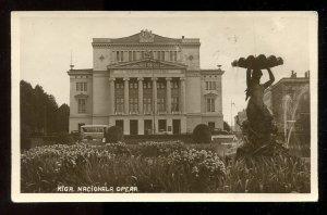 dc136 - LATVIA Riga 1931 Opera House Real Photo Postcard