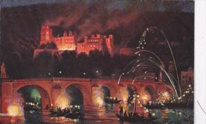 Germany Heidelberg Schlossbeleuchtung 1911