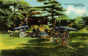 Massachusetts Dubury Grave Of Myles Standish