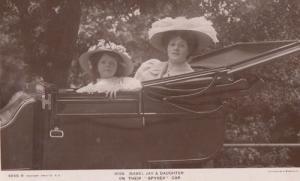 Isabel Jay + Daughter Spyker Car Postcard