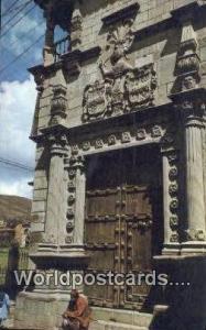 Cuzco, Peru Fachada del Palacio de Almirante, Admiral's House  Fachada del Pa...
