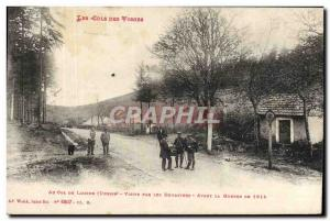 Old Postcard Customs Cols des Vosges At the pass Lubine visit by customs befo...