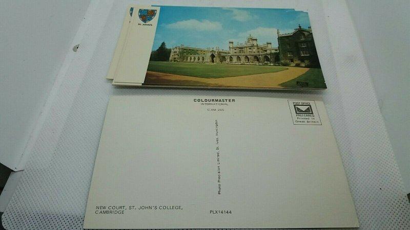 Job Lot Bulk Buy 12 x Vintage Postcards of St Johns College Oxford