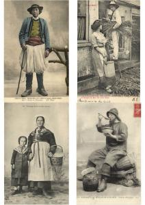 FRENCH FOLKLORE TYPES France 160 CPA pre-1940
