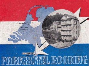 Netherlands Valkenburg Parkhotel Rooding Vintage Luggage Label lbl0328