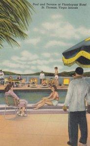 ST THOMAS , Virgin Islands , 1930-40s ; Flamboyant Hotel , Pool & Terrace