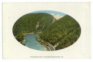 Delaware Water Gap, Pennsylvania, PA, Divided Back