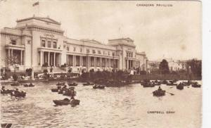 Canadian Pavilion From Lake, People On Boats, Campbell Gray, Canada, 1924