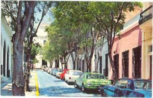 Street in Old San Juan, Puerto Rico, U.S.A.. Chrome