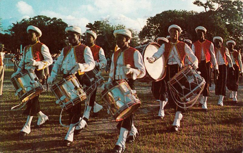 Barbados Fife & Drummers Zouave Uniforms Garrison Savannah St. Michael 1962 pc