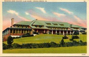 Virginia Virginia Beach Princess Anne Golf Club 1945 Curteich