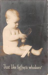 People and Children Photographed on Postcard, Old Vintage Antique Post Card J...