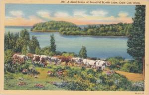 Massachusetts Cape Cod Ru3al Scene At Mystic Lake 1941 Curteich
