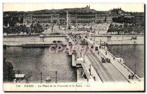 Old Postcard Paris Place de la Concorde and the Seine