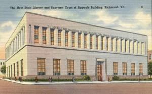 Library and Supreme Court - Richmond VA, Virginia - Linen