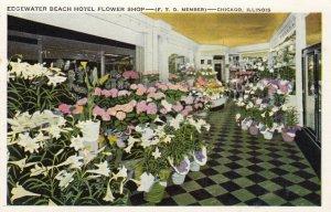 CHICAGO, Illinois; 10-20s; Flower Shop , Edgewater Beach Hotel