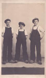 Children as Chimney Sweeps Norwich Norfolk Antique Theatre Postcard