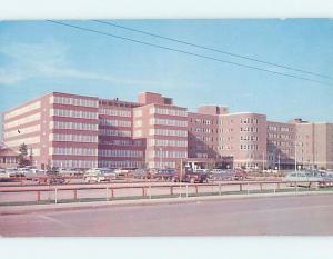 Pre-1980 UNIVERSITY HOSPITAL & OLD CARS Edmonton Alberta AB d5716