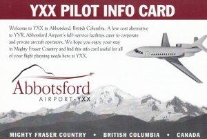 YXX Pilot Info Card , ABBOTSFORD Airport , B.C. , Canada , 1990s