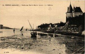 CPA AK PORNIC - Sortie du Port a Marée basse - Le Chateau (654027)