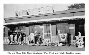 Onalaska WI His & Hers Gift Shop~Old Chest Coke Machine~Catholic Icons~B&W 1940s