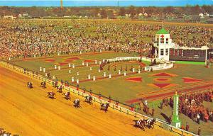 Louisville KY Churchill Downs Kentucky Derby Race Day Finish Line Postcard