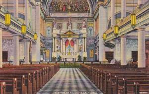 Luoisiana New Orleans St Louis Cathedral Interior Curteich